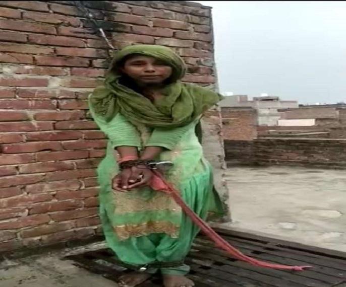 सोशल मीडिया पर वायरल हुआ महिला का फोटो।